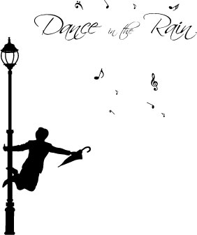 Large Dance In The Rain Wall Art Sticker / Quote / Wall ...
