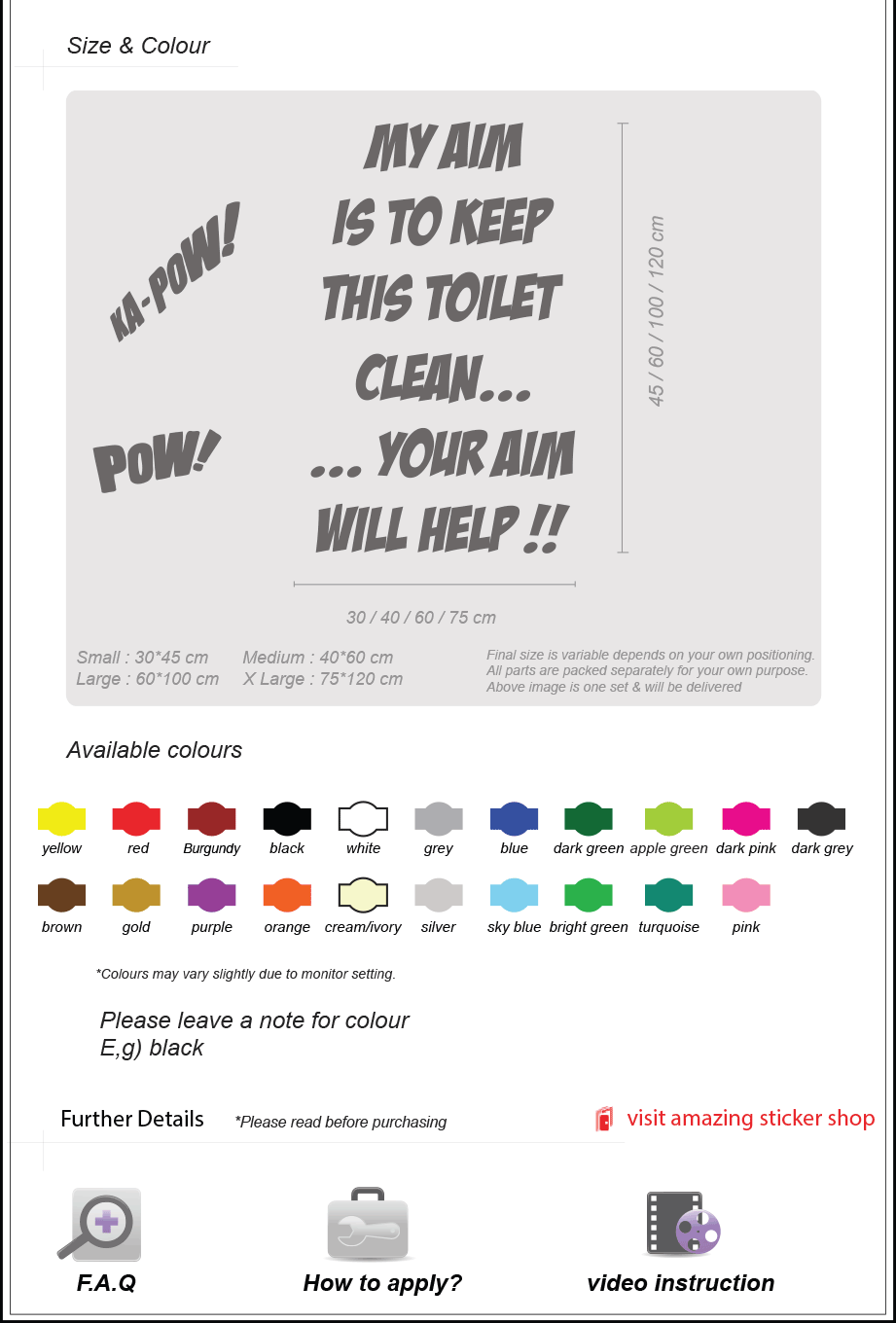 Toilet Bathroom Art Funny Wall Quote Stickers Wall Decals